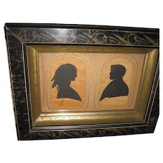 1800's Beauiful Double Silhouette w/provenance Free P&I US Buyers