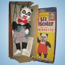 Big Brothers Panda Bear Marinette Puppet w/box Free P&I US Buyers