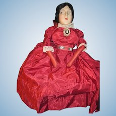 "22"" Wondeful Vintage compo cloth Boudoir Doll Free P&I US Buyers !"