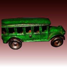 "Arcade 5"" Green Cast Iron Touring Bus Free P&I US Buyers"