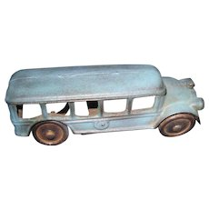 1920's Cast Iron Blue Touring Car Free P&I US Buyers!