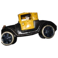 "5"" 1920'S  Cast Iron Toy Taxi Car Fee P&I US Buyers"