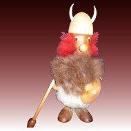 "7.5"" Wood Denmark Viking Troll Free P&I US BUYERS"
