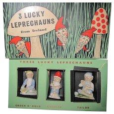 Ireland WADE 3 Lucky Leprechauns w/box Fee P&I US Buyers