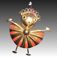 """Awesome 3"""" Brass Whimsey brass pin Free P&I US Buyers"""