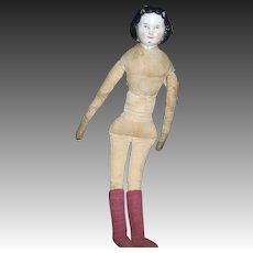 """13"""" OLD China Doll needs TLC Free P&I US Buyers"""
