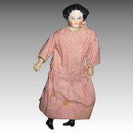 """10"""" China flat Head Doll house or Cabinet Doll Free P&I US Buyers"""
