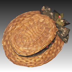 Vintage  Doll's Straw hat  Free P&I US Buyers