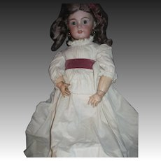 """27"""" German Bisque no. 12 Doll Pierced ears Free P&I  US Buyers"""