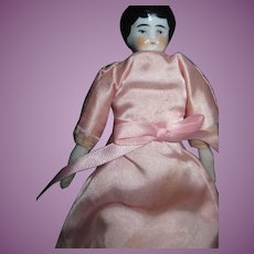 "Pretty 7"" China Doll House Doll."