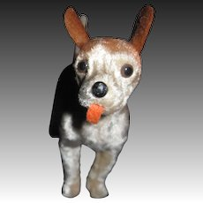 """Adorable 4"""" Terrier Dog doll companion Free P&I US buyer"""