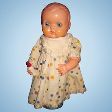 "So Sweet 11""  Wind up Celluloid baby doll need work Fee P&I US Buyers"
