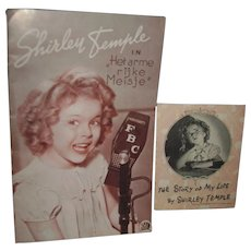 2 Vintage Shirley Temple Booklets Het arme rijke Meisje Poor Rich Girl Free P&I US Buyers