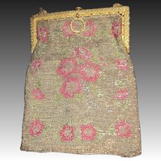 Lovely Floral Pattern beaded bag Free P&I US Buyers
