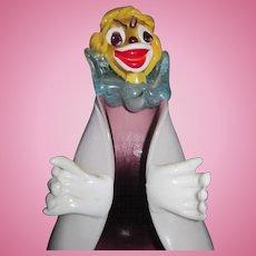 Wonderful Murano Glass Clown Ashtray label Free P&I US Buyers