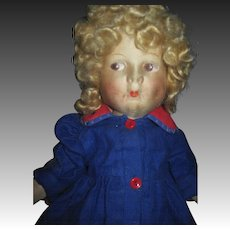 """Adorable 17"""" side glance jointed Cloth Doll Free P&I US Buyers"""