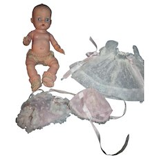 Vintage Ginnette Baby Doll with two outfits Free P&I US Buyers