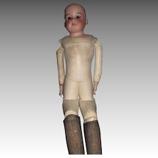 "23"" AM 370 Doll with nice leather Body.  Free P&I US Buyers"