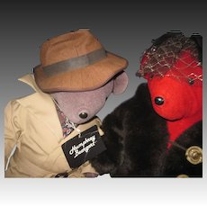 VIB North American Bear Humphry Beargart and Lauren Bearcall  Free P&I US Buyers
