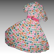 Vintge Barbie Learns to cook signature dress  Doll Dress Free P&I US Buyers