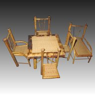Vintage Group of Bamboo Doll Furniture Free P&I US Buyers