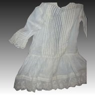 Lovely Sheer Summer drop waist Dress for larger Bisque or china Doll Free P&I US Buyers