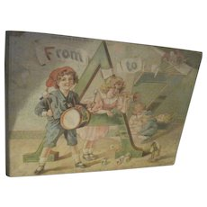 Beautiful 1895 Raphael Tuck Illus Childrens Book From A to Z Free P&I US Buyers!