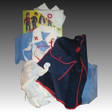 Awesome Nurses Outfit for your larger Playpal doll & friends Free P&I US buyers