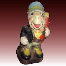 """1940 's  6"""" Jiminy Cricket Disney Bank Free P&I US Buyers"""