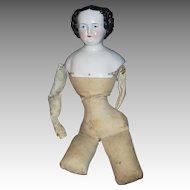 Antique China Flattop doll w/body Free P&I US Buyers