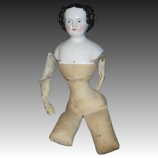 Antique China Flattop doll w/body Free P&I US Buyers