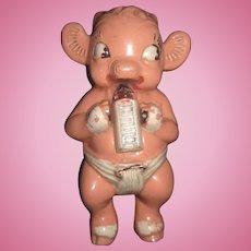 Adorable Beaureguard Borden's Baby Calf Rattle Free P&I US Buyers