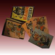 Sweet Small Block Puzzle set Kitty, Bunny, Fox Free P&I US Buyers
