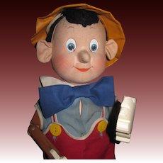 1940 Pinocchio Krueger Disney  Doll Wood & cloth Doll w/box Free P&I US BUYERS