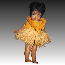 """8 """" S PB H Hanna Brown bisque Doll for restoration Free P&I US Buyers"""