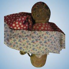 Vintage  Drayton Cloth Topsy Turvy Doll Free P&I US Buyers