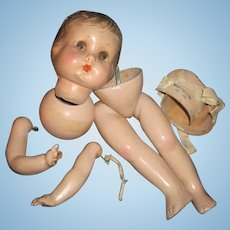 Madame Henddron Georgene Twist Doll for restoration Free P&I US Buyers