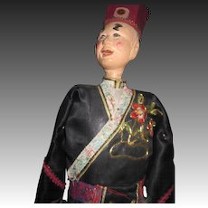"Old 17"" Chinese Opera Doll Puppet Free P&I US Buyer"
