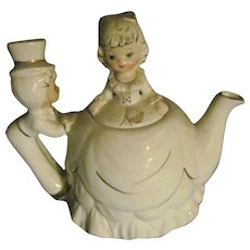 Unusual Musical Tea for Two Teapot Free P&I US BUYERS