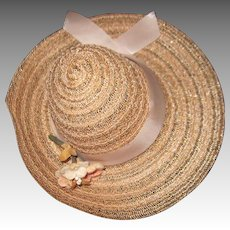 Vintage   Straw hat for Alexander doll & friends Free P&I US Buyers