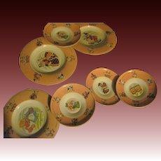 Wonderful Partial set Alice in Wonderland Disney Tin Dishes Free P&I US Buyers