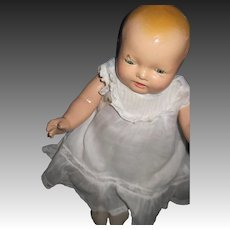 "13"" Sweet Composition Effanbee Bubbles Baby Doll Free P&I US Buyers"