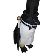 Awesome 2'  Black Bird Dressed in a Tux for fun or disply Free P&I US Buyers