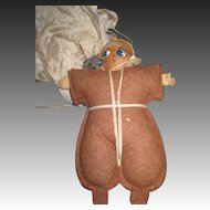 WWII Wood & Cloth Parachute doll Free P&I US Buyers