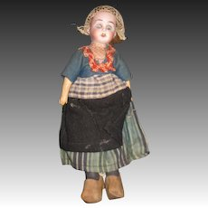Small German Bisque Dutch Girl doll Free P&I US Buyers