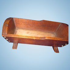 """Nice 10"""" """" Penny Wood  Doll Cradle made for Mooseheart  Free P&I US Buyers"""