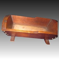 "Nice 10"" "" Penny Wood  Doll Cradle made for Mooseheart  Free P&I US Buyers"