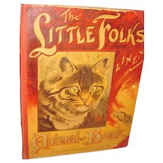 Large Linen The Little Folks Animal Linen Book Free P&I US Buyers