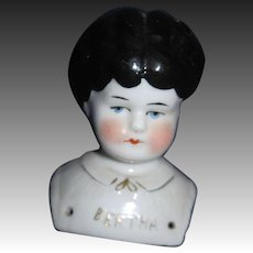 "3.5"" Pet Name Marion China Doll Head Free P&I US Buyers"