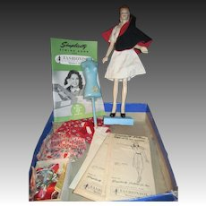 "15"" Vintage Sewing Mannequin Doll Box Set Free P&I US Buyers"